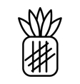 fesh fruit pineapple isolated icon design vector image