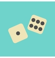 flat icon on background poker dice lucky vector image