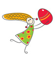Happy little girl with Easter egg vector image
