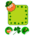 patricks day set vector image
