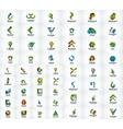 Mega collection of abstract company logos vector image