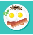 with fried eggs vector image