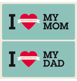 mothers fathers day cards vector image vector image