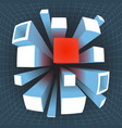 abstract geometric square extension movement vector image