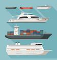 ships and boats vector image