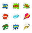 simple abbreviations speech bubbles icons set vector image