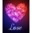 Hearts bokeh background vector image vector image