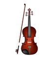 A Beautiful Brown Violin on White Background vector image