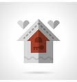 Family house flat color icon vector image