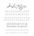 large isometric bundle of english letters vector image