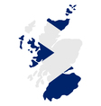 Map of scotland with flag vector image