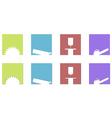 sawing mill logos and symbols vector image