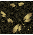 Seamless dark vintage pattern vector image
