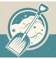 snow shovel vector image
