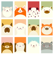 Banner background with cute dogs vector image