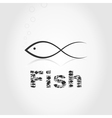 Silhouette fish2 vector image vector image