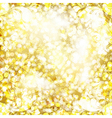 Abstract golden background with floral pattern vector image vector image