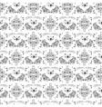 Luxury damask pattern vector image