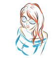 Girl in sunglasses vector image