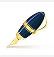 elegant fountain pen vector image vector image