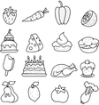 Set of meal icons black and white vector image