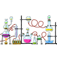 Chemical laboratory vector image