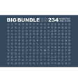 Big bundle of 3d isometric line icons vector image