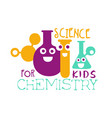 chemistry science for kids logo symbol colorful vector image