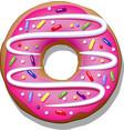 doughnut vector image