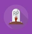 Halloween Flat Icon Grave vector image