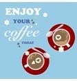 Love Design Coffee Texture Cup Flower Art vector image