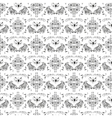 Luxury damask pattern vector image