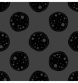 Pizza web icon flat design Seamless gray pattern vector image