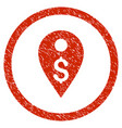 dollar map marker rounded grainy icon vector image