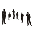 Men thinking in different postures vector image