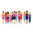 women in a line vector image vector image