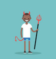 young black character wearing devil elements vector image