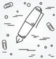 Fountain pen Icon Fountain pen Icon Fountain pen vector image