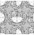 Graphic crab pattern vector image