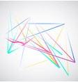 Colorful Lines shapes abstract isolated on white vector image