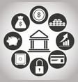 building bank money security credit growth vector image