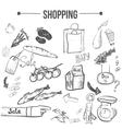 doodle shopping stylish set EPS10 vector image