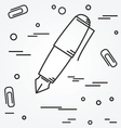 Fountain pen Icon Fountain pen Icon Fountain pen vector image