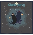 Ghosts party vector image