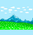 meadom and mountain vector image