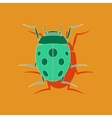 paper sticker on background of ladybug vector image