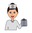 portrait female doctor medical healthcare vector image