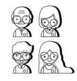 set teacher to education of students vector image