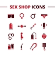 sex shop icons set Trendy two color line vector image