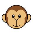 simple cartoon of a cute monkey vector image